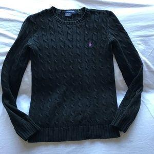 Ralph Lauren Crewneck Cable Knit Sweater